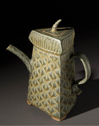 3 Side Teapot – Sage
