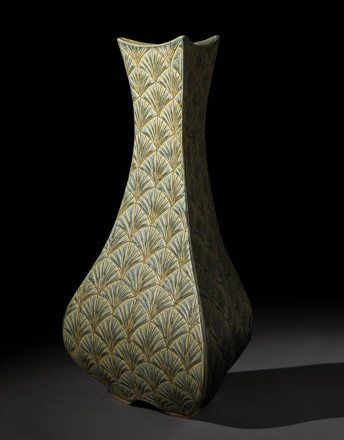 Tall Bulbous Vase – Sage