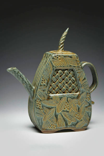 Teapot with Woven Inset