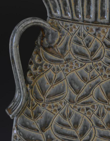 Sage Collared Vase - detail
