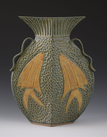 Fish vessel with Leaves