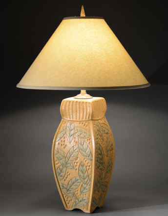 Gold 4 Sided Lamp