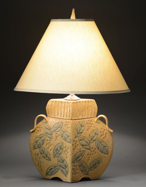 Gold Arts and Crafts Lamp