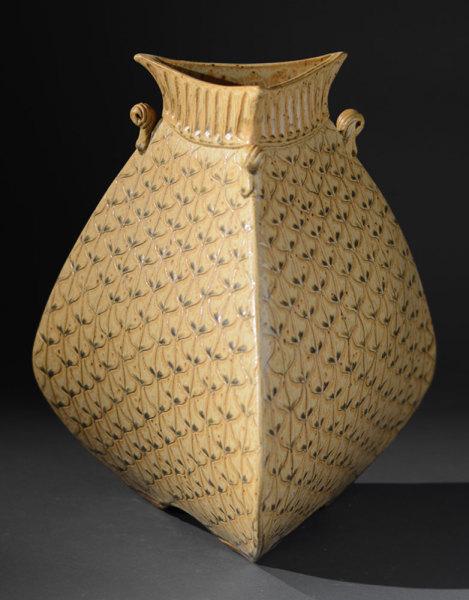 Gold Bulbous Vase