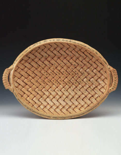 Gold woven bowl