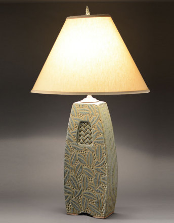 Sage Woven Window Lamp