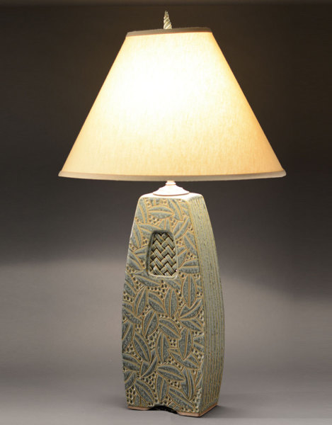 Woven window lamp sage jim shirl parmentier pottery - Hand made lamps ...