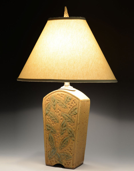Tall Gold Keystone Lamp