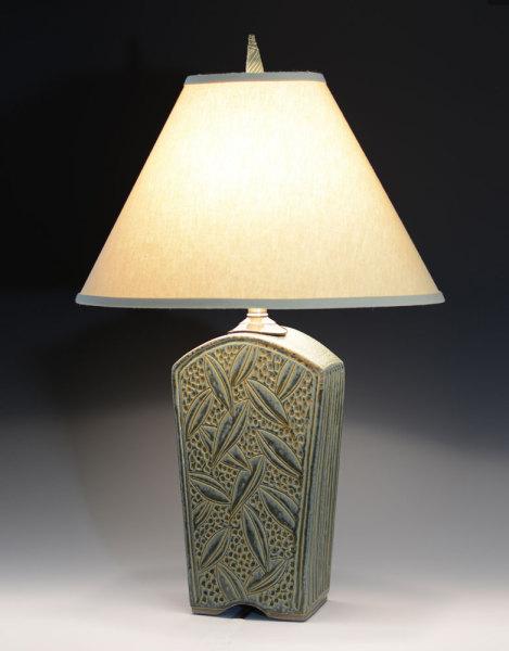 Tall Keystone Lamp Sage