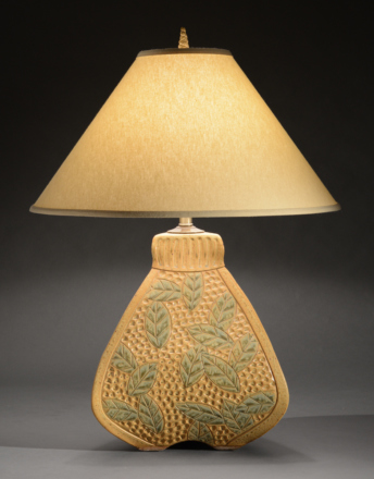 3-Sided Gold Bulbous Lamp